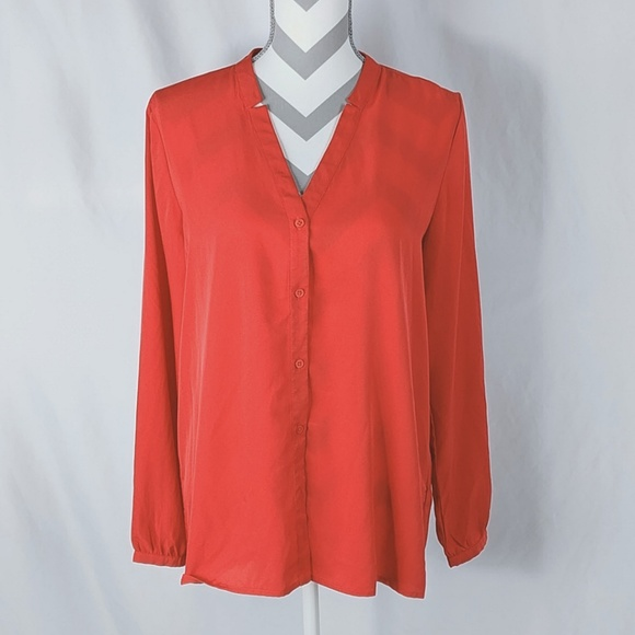 Tommy Hilfiger Tops - Tommy Hilfiger Button Front Shirt Red Sz Large